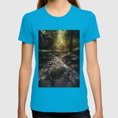 Moby Dick Womens Fitted Tee Teal SMALL