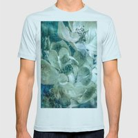Dreaming Of Roses Mens Fitted Tee Light Blue SMALL
