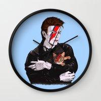 David & The cat Wall Clock