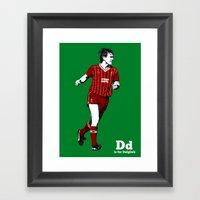 D Is For Dalglish Framed Art Print