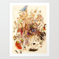 The Seven Head Dresses O… Art Print