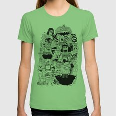 KIDS DOOM Womens Fitted Tee Grass SMALL