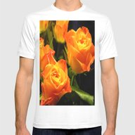Yellow Roses Mens Fitted Tee White SMALL