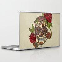 sugar skull Laptop & iPad Skins featuring Sugar Skull by Valentina Harper