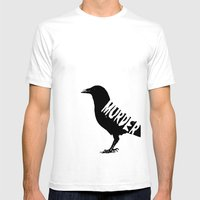 Murder Mens Fitted Tee White SMALL