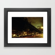 Track Darkness on Cold Cloudy Night Framed Art Print