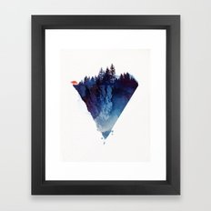 Near to the edge Framed Art Print