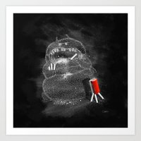 Chalk Monster Art Print