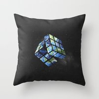rubik's earth Throw Pillow