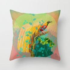Victorian Bird of Paradise Throw Pillow