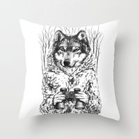 A Wolf In Sheep's Clothi… Throw Pillow