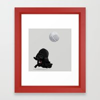 Beware, The Darth Star Framed Art Print