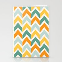 Citrus Chevron Stationery Cards
