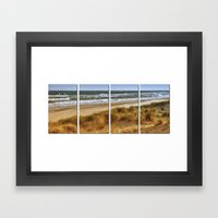 A Day At Hatteras Framed Art Print
