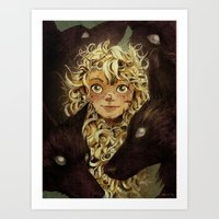 The Girl Raised by Foxes of the Northeast Art Print