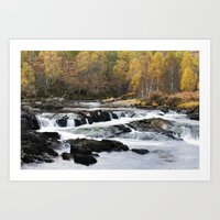 Autumn On The River Affr… Art Print