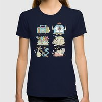 The Gangs all Here Womens Fitted Tee Navy SMALL