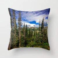 Mt Rainier National Park Throw Pillow