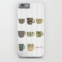 iPhone & iPod Case featuring I {❤} Coffee by lilycious