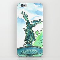 Angel of the waters - Central Park, New York iPhone & iPod Skin