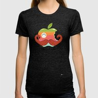 The Macinstache Womens Fitted Tee Tri-Black SMALL