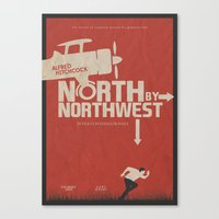 North by Northwest - Alfred Hitchcock Movie Poster Canvas Print