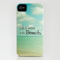 iPhone Cases featuring Life is Better at the Beach by Olivia Joy StClaire