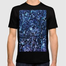 glass SMALL Black Mens Fitted Tee
