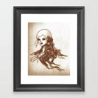 Split-Ends Framed Art Print