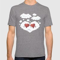 DREAMY HEARTS Mens Fitted Tee Tri-Grey SMALL