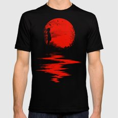 The Land of the Rising Sun Black Mens Fitted Tee SMALL