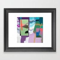 Split and Twist Framed Art Print