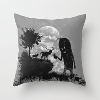The Friendly Visitor Throw Pillow