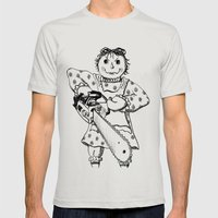 Raggedy Ann with a Chainsaw Mens Fitted Tee Silver SMALL