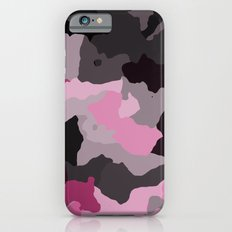 Black Gray and Pink Camouflage iPhone 6s Slim Case