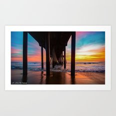 Winter Wonderland - Surf City USA Art Print