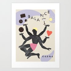 Balance & Karma Art Print