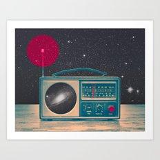 Space Radio Art Print