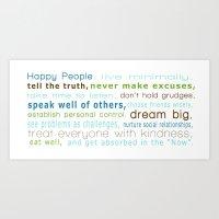Happy People Art Print