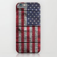 """iPhone & iPod Case featuring """"Old Glory""""  """"The Star Spangled Banner"""" on wood by Bruce Stanfield"""