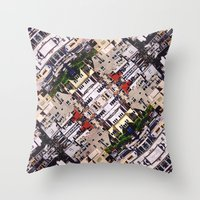 Scene Of City Structures Throw Pillow