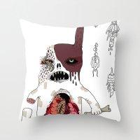 Zombie Dog Throw Pillow