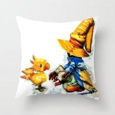 Vivi and the Chocobo Final Fantasy 9 Throw Pillow