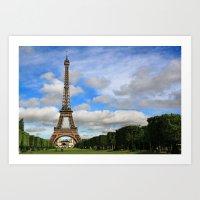 Eiffel Tower Day Art Print