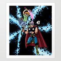 Scott Vs. Thor Art Print