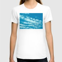 Beautiful Blue Sky And F… Womens Fitted Tee White SMALL