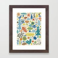 Folk Forest Framed Art Print