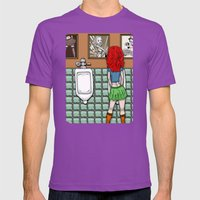 Girl In Skirt At Urinal … Mens Fitted Tee Ultraviolet SMALL