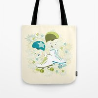 Tote Bag featuring Roller Derby Rumble by Wild Notions