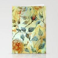 Roses And Orange Splash Stationery Cards